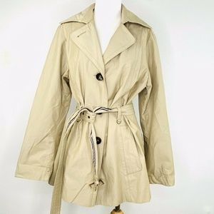 1 MADISON Womens Trench Coat Tan Size L NWOT